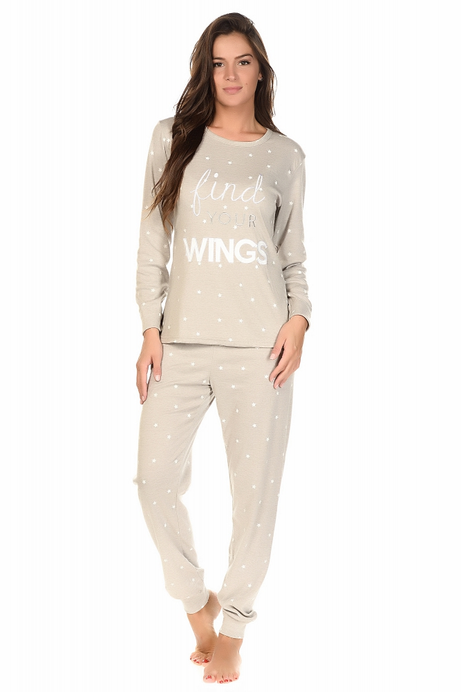 Wings Gris - Ensembles pyjama