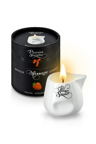 Bougie massage fraise 80ml - Massage & gels stimulants