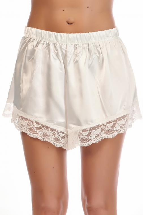 Caky Blanc - Ensemble caraco / short