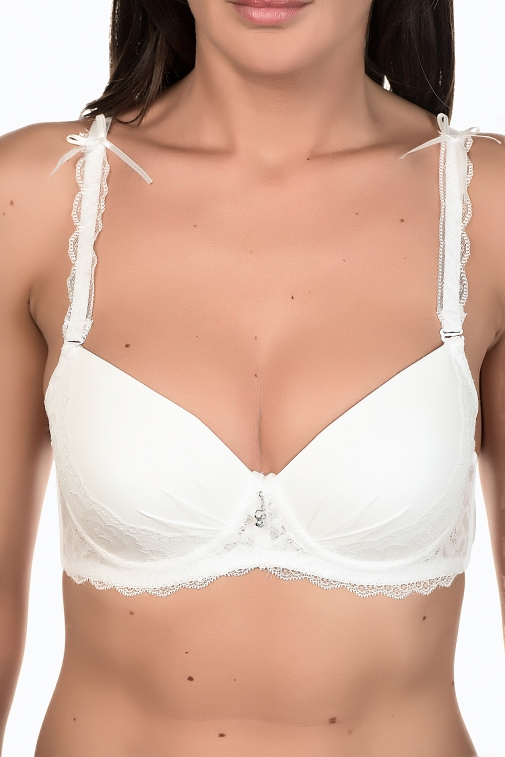 Diamy Blanc - Ensemble soutien-gorge / shorty