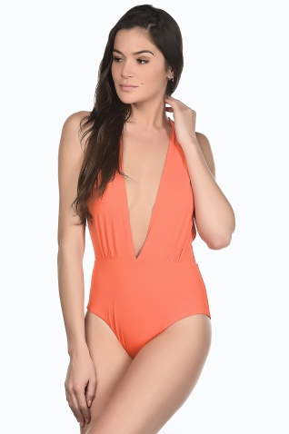 Drapy Orange - Maillot de bain