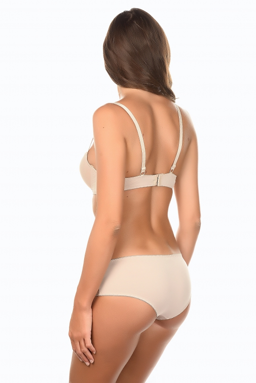 Galine Beige - Ensemble soutien-gorge / shorty