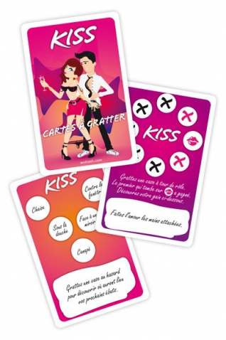 Jeu kiss - cartes a gratter - Jeux coquins