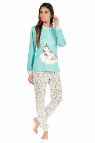 Licorne Vert - Ensembles pyjama