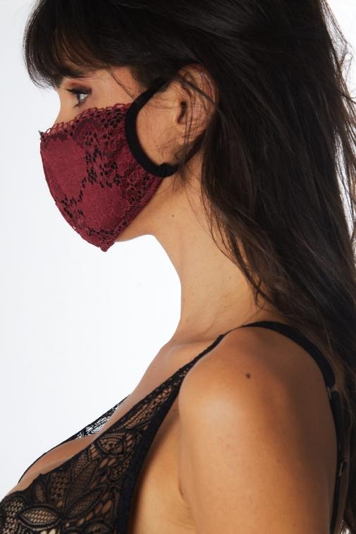 Lot de 3 masques Noir / Bordeaux / Marine - Accessoire