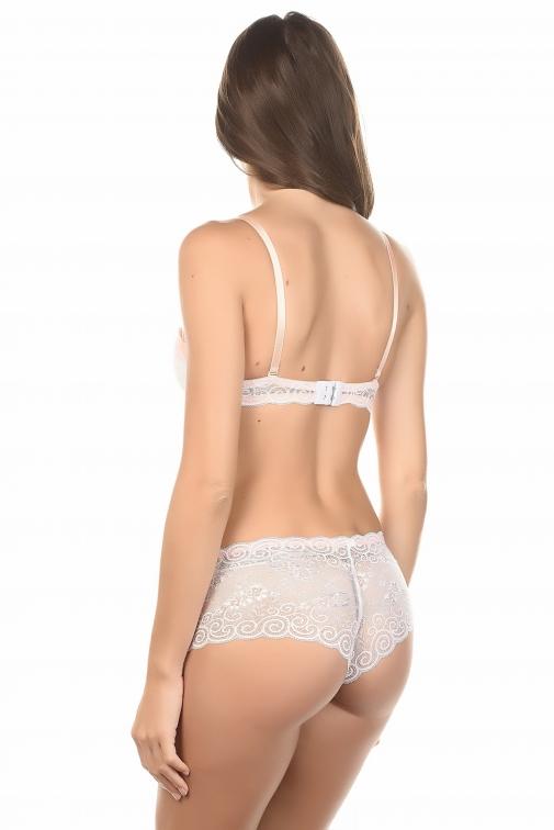 Roses Blanc - Ensemble soutien-gorge / shorty