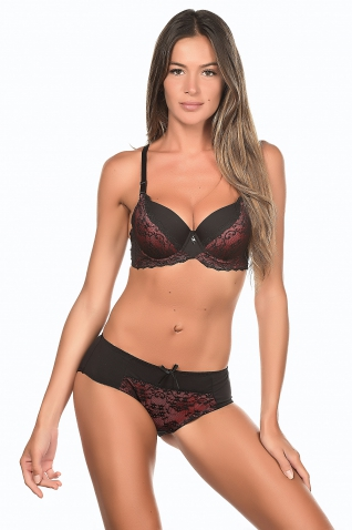 Fliray Rouge - Ensemble soutien-gorge / shorty