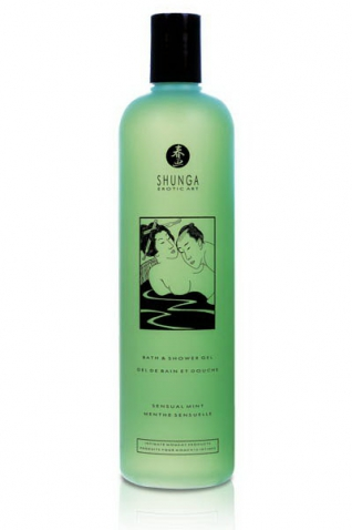 Gel bain/douche 500ml menthe - Massage & gels stimulants