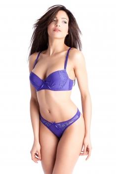 Irina Bleu - Soutien-gorge / String