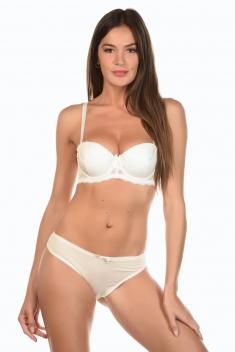 Iris Blanc - Ensemble soutien-gorge / culotte
