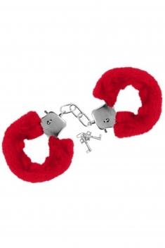 Menottes poignets rouge - Sextoys