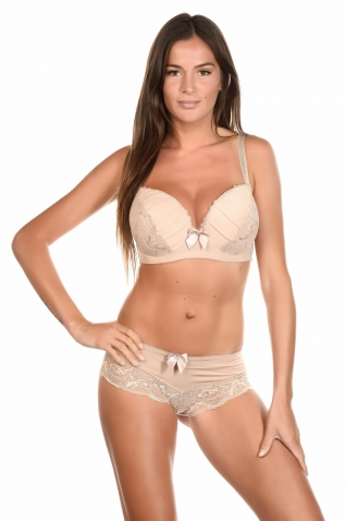 Tatoom Beige - Ensemble soutien-gorge / shorty