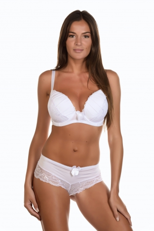 Tatoom Blanc - Ensemble soutien-gorge / shorty